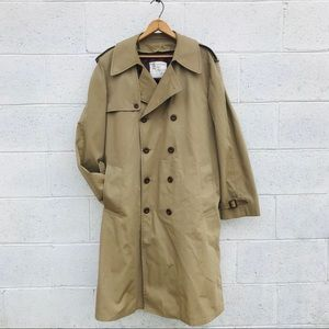 Vtg London Fog Double Breasted Lined Trench Coat